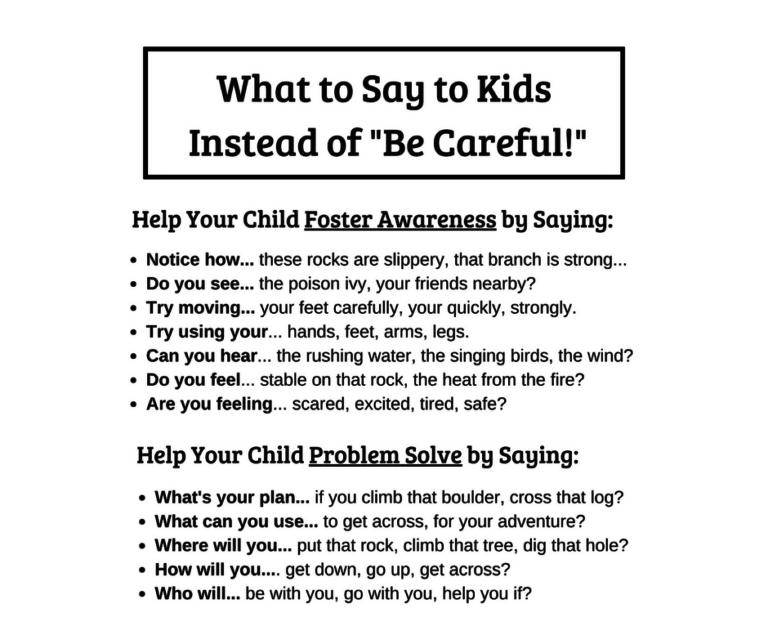 31 - ГЛОССАРИЙ: Чем заменить фразу «Be careful» и помочь ребенку осознать опасность ситуации?