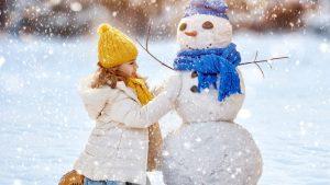Лепим снеговика на английском языке